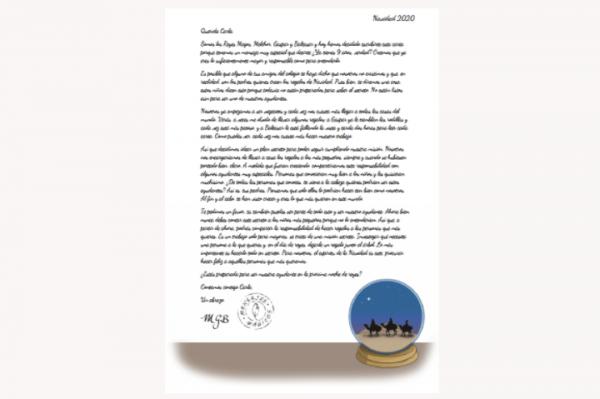 Carta del secreto de los Reyes de Oriente