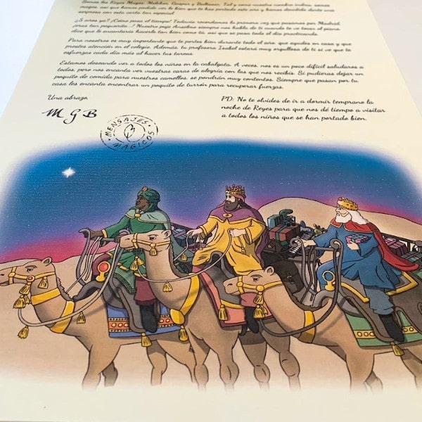 Foto carta de los reyes magos personalizada