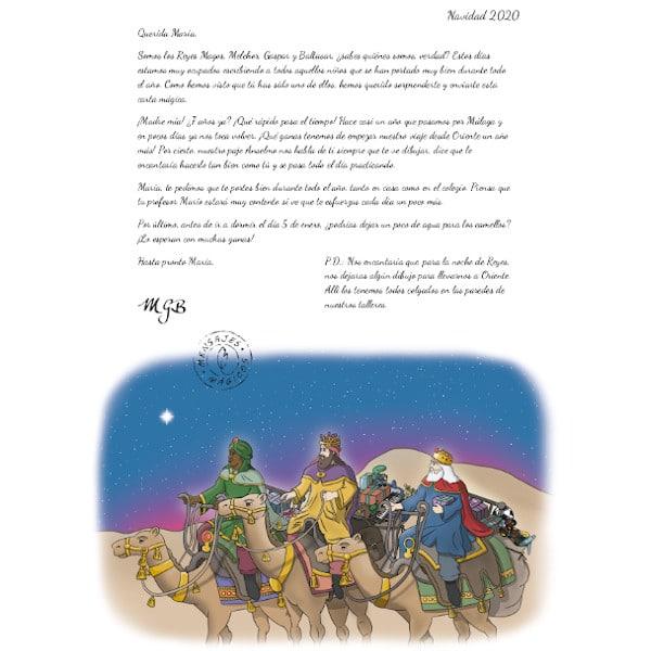Carta descargable de los Reyes de Oriente