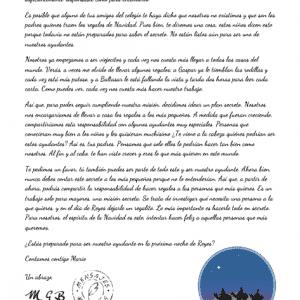 Carta del secreto de los Reyes Magos