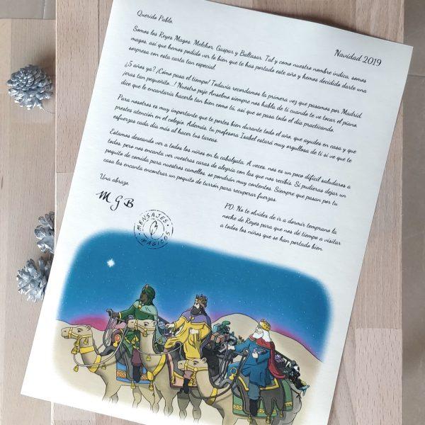Carta Reyes Magos para imprimir