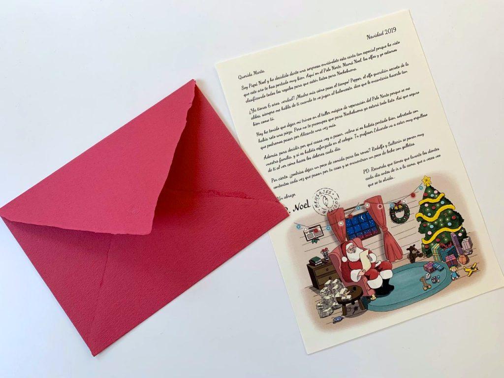 Papa Noel escribe una carta